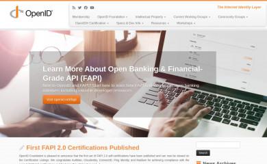 openid.net screenshot