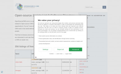 opensourcecms.com screenshot