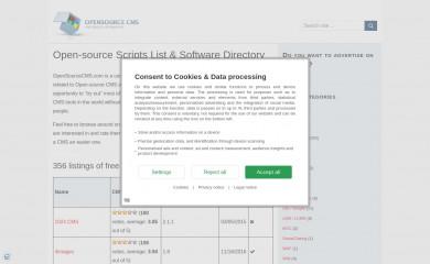 opensourcecms.com screenshot
