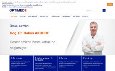 optimedhastanesi.com screenshot