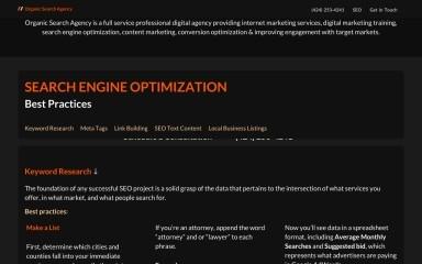 http://organicsearch.agency screenshot