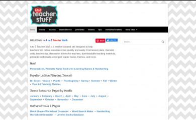 http://atozteacherstuff.com screenshot