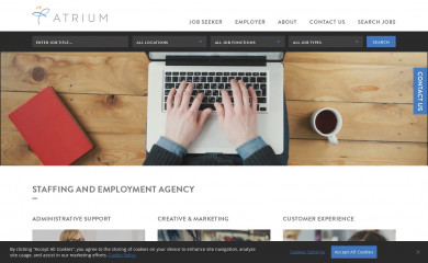 atriumstaff.com screenshot