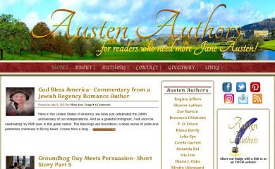 http://austenauthors.net screenshot