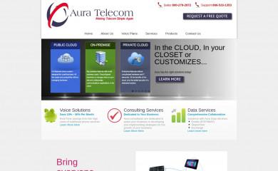 http://auratelecom.com screenshot