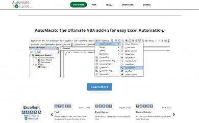 automateexcel.com screenshot