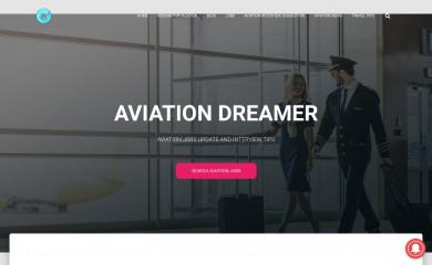 aviationdreamer.com screenshot