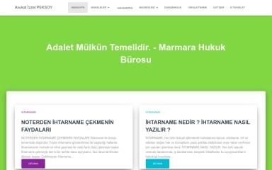 avukatizzetpeksoy.com screenshot