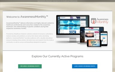awarenessmonthly.com screenshot