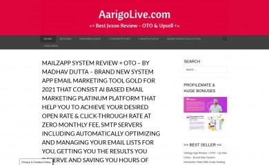 aarigo.com screenshot