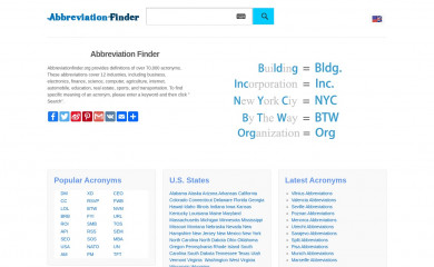 abbreviationfinder.org screenshot