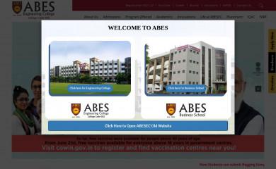 abes.ac.in screenshot