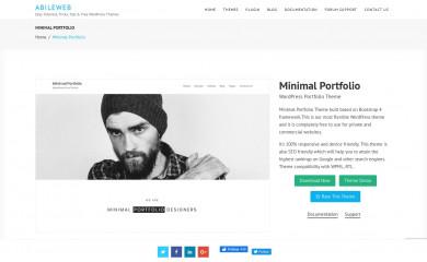 https://abileweb.com/portfolio/minimal-portfolio/ screenshot