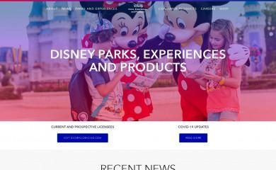 aboutdisneyparks.com screenshot