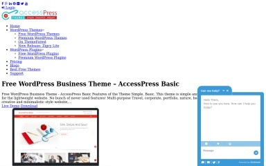 Accesspress Basic screenshot