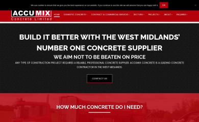accumixcontracting.co.uk screenshot