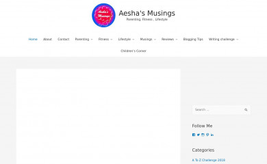 http://aeshasmusings.com screenshot