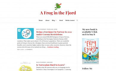 afroginthefjord.com screenshot