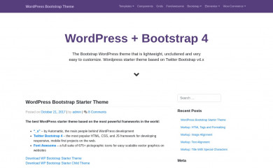 https://afterimagedesigns.com/wp-bootstrap-starter/ screenshot