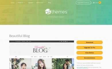 Beautiful Blog screenshot