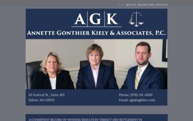 agklaw.com screenshot
