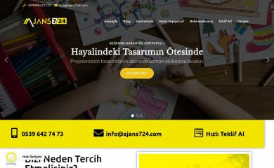 ajans724.com screenshot