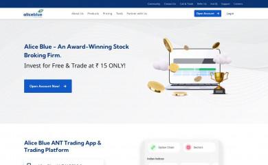 aliceblueonline.com screenshot
