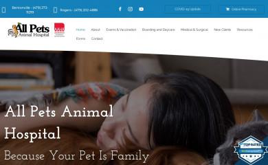 allpetsnwa.com screenshot