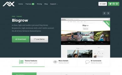 Blogrow screenshot