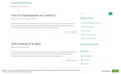 amazingfilehosting.com screenshot