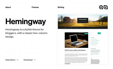 https://www.andersnoren.se/teman/hemingway-wordpress-theme/ screenshot