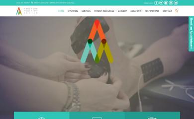 andersonpodiatrycenter.com screenshot
