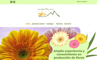 andesflowers.cl screenshot