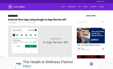 androidhive.info screenshot