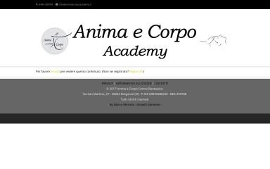 http://animaecorpoacademy.it screenshot