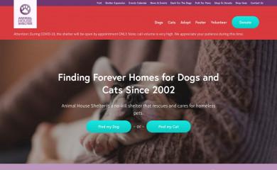 animalhouseshelter.com screenshot