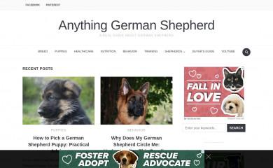 anythinggermanshepherd.com screenshot