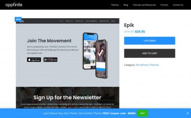 http://appfinite.com/themes/epik screenshot