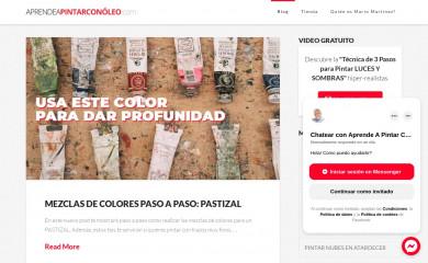 aprendeapintarconoleo.com screenshot