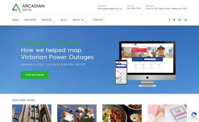 arcadiandigital.com.au screenshot