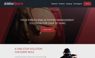 arbitersports.com screenshot
