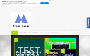 http://arqumhouse.edu.pk screenshot