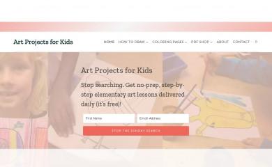 artprojectsforkids.org screenshot