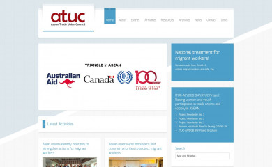 aseantuc.org screenshot