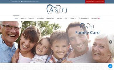http://asirifamilydentistry.com screenshot
