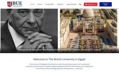 bue.edu.eg screenshot