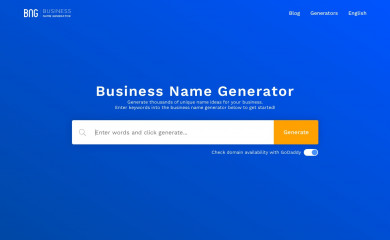 http://businessnamegenerator.com screenshot