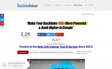 http://backlinksindexer.com screenshot