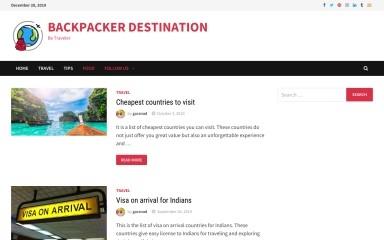 backpackerdestination.com screenshot