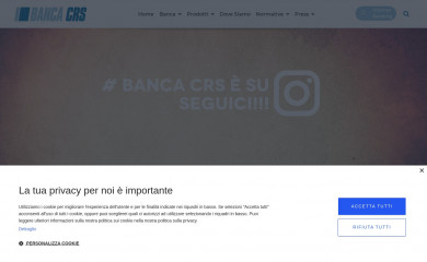 http://bancacrs.it screenshot